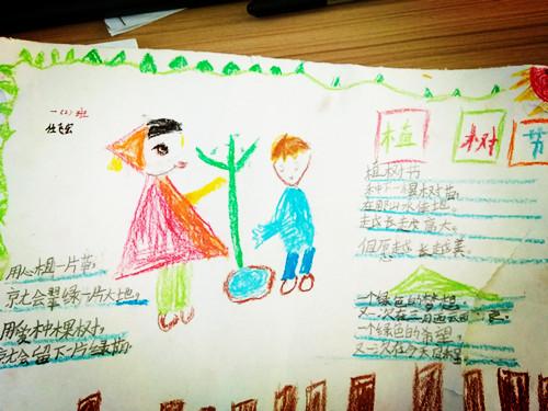 相约春天 共植希望———鸣九小学举行植树节手抄报比赛