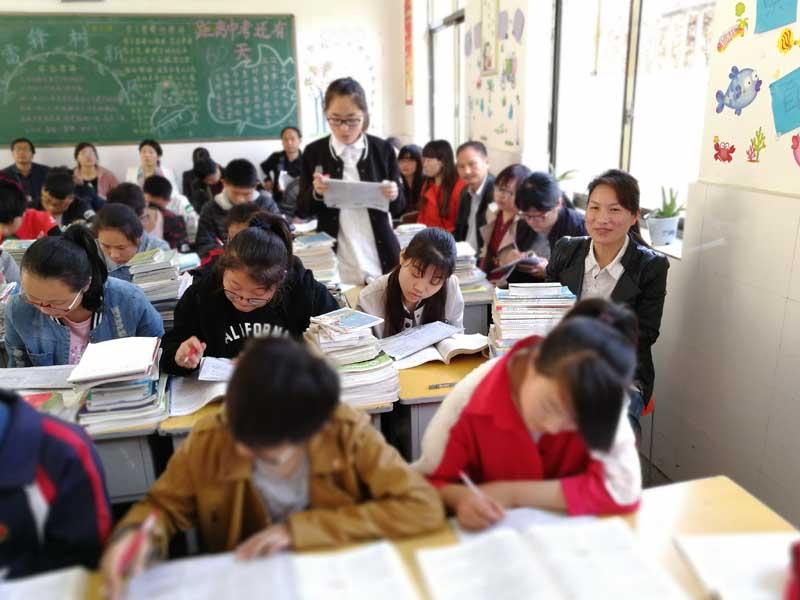 """语文中考复习暨""""学讲方式""""的研讨活动在六中举行"""