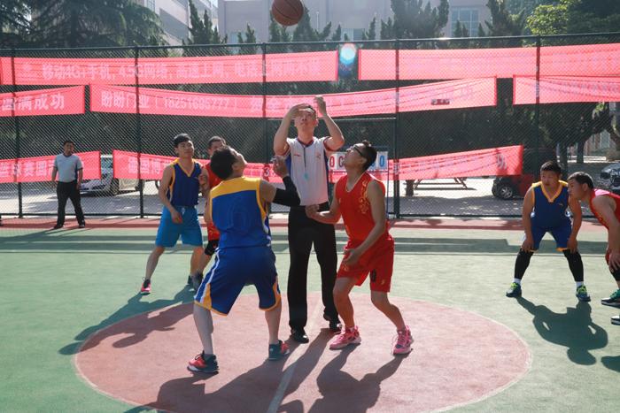 """庆""""五·一""""教职工篮球比赛总决赛举行"""